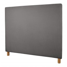 Plain Piped Headboard | King Size | Magic Velvet Liquorice