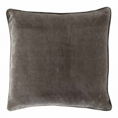 Vitton Grey Velvet 60 x 60 Cushion Cover With Interior