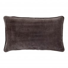 Vitton Grey Velvet 30 x 50 Cushion Cover With Interior