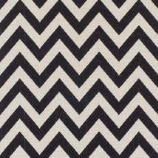 ZigZag Extra Large Black & Natural Rug