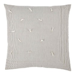 Finlay Ecru & Ink Striped 60 x 60 Cushion Cover