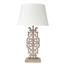 Arabesque Lamp Base Complete With Retro Drum Shade