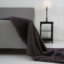 Persian Blue-Grey XL Luxury Faux Fur Throw