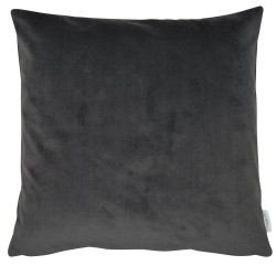 Slate Grey Velvet 45 x 45 Cushion complete with feather interior