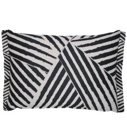 Zebra Textured Cushion 35 x 50 with feather interior