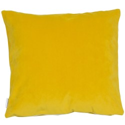 Saffron Velvet 45 x 45 Cushion Complete with Duck Feather Interior
