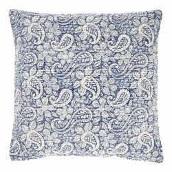 Blue Paisley 45 x 45 Cotton Cushion Complete With Interior