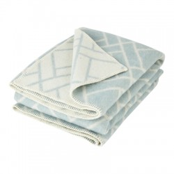 Duck Egg Blue Pure New Wool Brick Throw
