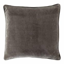 Vitton Grey Velvet 60 x 60 Cushion With Feather Interior