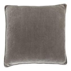 Vitton Grey Velvet 60 x 60 Cushion Cover