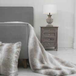 Snow Rabbit XL Luxury Faux Fur Throw